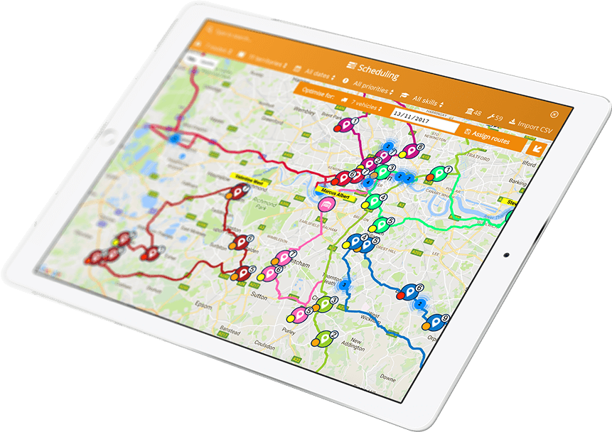 Delivery Mapping Route Planner Mobile App for Multiple Destination on
